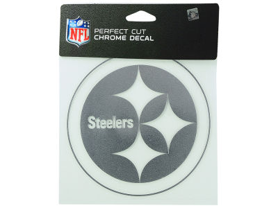 "Pittsburgh Steelers Die Cut Decal 6""x6"" Chrome"