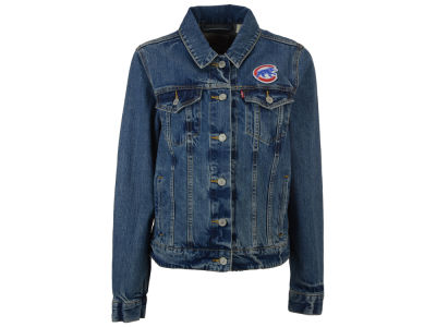 Chicago Cubs Levi's MLB Women's Denim Trucker Jacket
