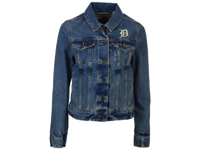 Detroit Tigers Levi's MLB Women's Denim Trucker Jacket