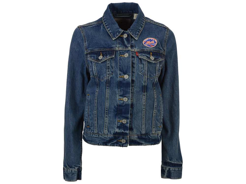 New York Mets Levi's MLB Women's Denim Trucker Jacket | lids.com