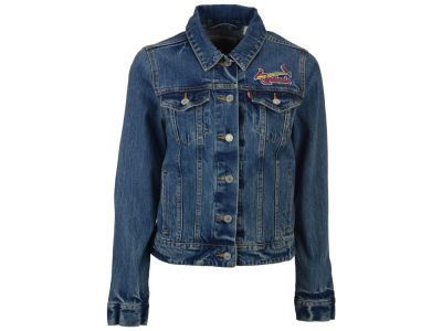 St. Louis Cardinals Levi's MLB Women's Denim Trucker Jacket