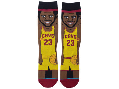 Cleveland Cavaliers LeBron James Stance Cartoon Legend Player Socks