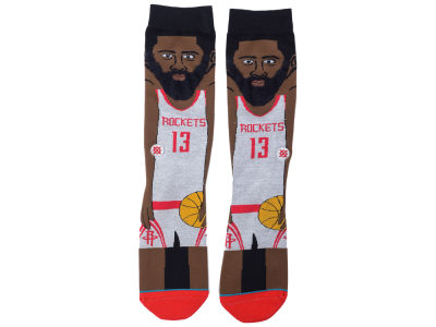 Houston Rockets James Harden Stance Cartoon Legend Player Socks