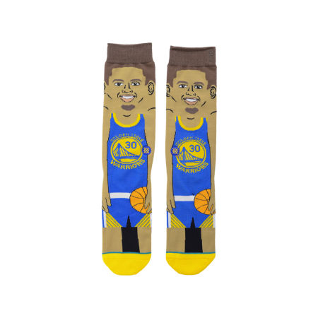 Golden State Warriors Stephen Curry Stance Cartoon Legend Player Socks