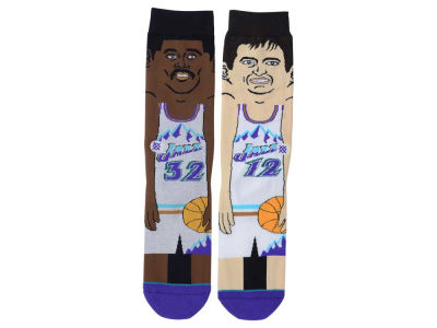 Utah Jazz Stockton/Malone Stance Cartoon Legend Player Socks