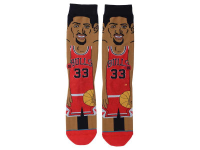 Chicago Bulls Scottie Pippen Stance Cartoon Legend Player Socks