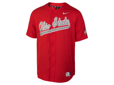 Ohio State Buckeyes Nike NCAA Men's Full Button Vapor Elite Baseball Jersey