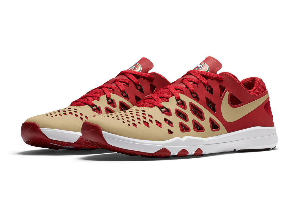 Nike Train Speed AMP San Franciscers Running Sho Men's Shoes Gold