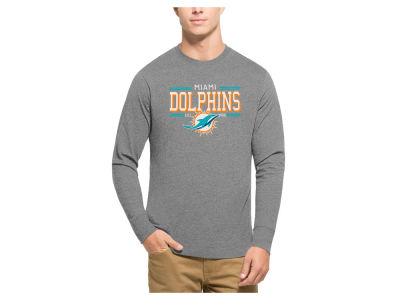 Miami Dolphins '47 NFL Men's Double Option Splitter Long Sleeve T-Shirt