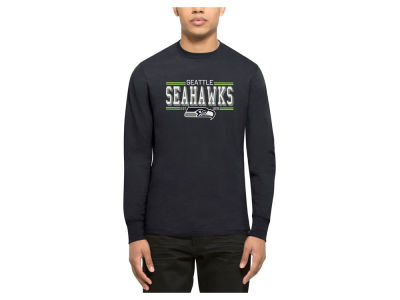 Seattle Seahawks '47 NFL Men's Double Option Splitter Long Sleeve T-Shirt