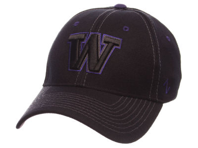Washington Huskies Zephyr NCAA Black Element Flex Cap