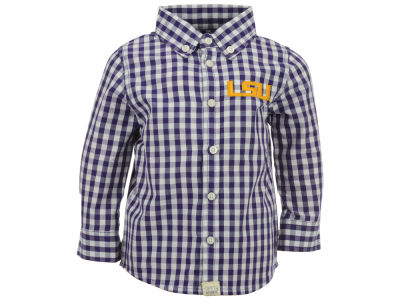 LSU Tigers NCAA Infant Logan Long Sleeve Button Down Shirt