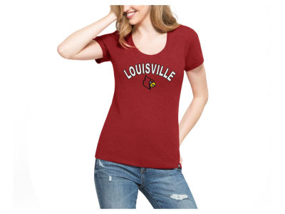 Louisville Cardinals '47 NCAA Women's Club Home Sweet Home Scoop T-Shirt