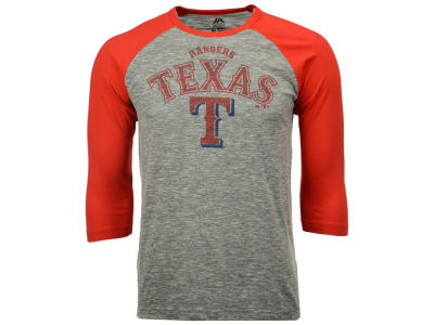 Texas Rangers Majestic MLB Men's Fast Win Raglan T-Shirt