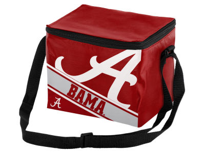 Alabama Crimson Tide 6-pack Big Logo Stripe Lunch Cooler
