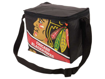 Chicago Blackhawks 6-pack Big Logo Stripe Lunch Cooler