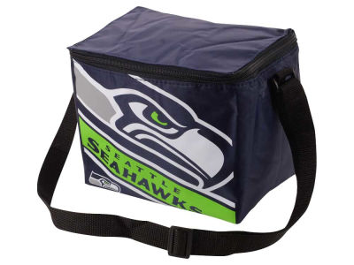 Seattle Seahawks 6-pack Big Logo Stripe Lunch Cooler