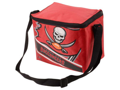 Tampa Bay Buccaneers 6-pack Big Logo Stripe Lunch Cooler