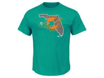 Miami Dolphins Majestic NFL Men's State Reflective T-Shirt