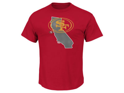 San Francisco 49ers Majestic NFL Men's State Reflective T-Shirt