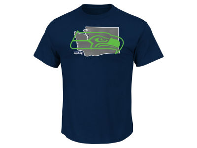 Seattle Seahawks Majestic NFL Men's State Reflective T-Shirt