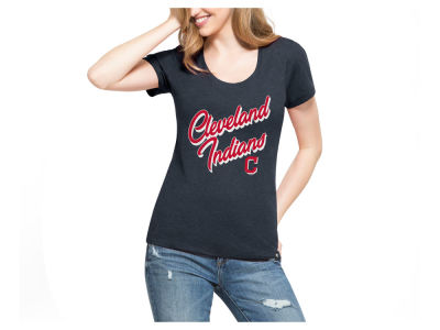Cleveland Indians '47 MLB Women's Club Script T-Shirt