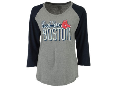 Boston Red Sox '47 MLB Women's Club Block Raglan T-Shirt