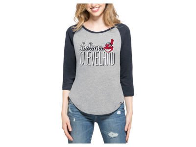 Cleveland Indians '47 MLB Women's Club Block Raglan T-Shirt