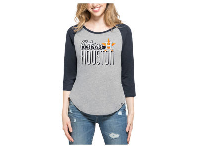 Houston Astros '47 MLB Women's Club Block Raglan T-Shirt