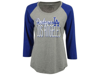 Los Angeles Dodgers '47 MLB Women's Club Block Raglan T-Shirt