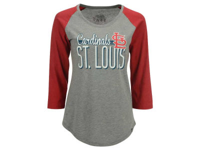 St. Louis Cardinals '47 MLB Women's Club Block Raglan T-Shirt