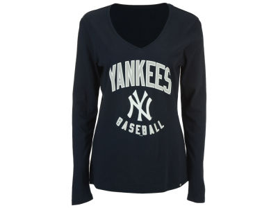 New York Yankees '47 MLB Women's Splitter Arch Long Sleeve T-Shirt