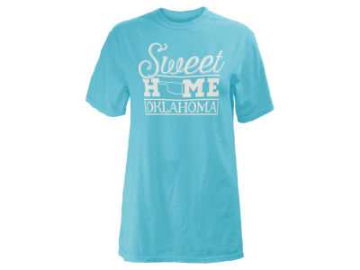 Oklahoma Sooners Pressbox NCAA Women's Home Sweet T-Shirt