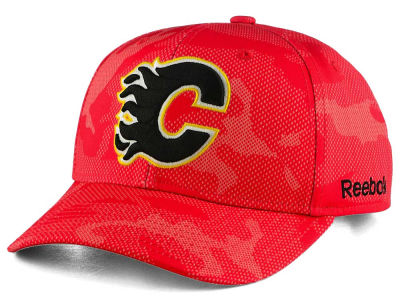 Calgary Flames Reebok NHL Structured Adjustable Cap