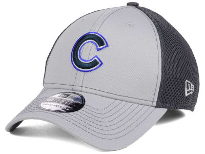 Chicago Cubs New Era MLB Greyed Out Neo 39THIRTY Cap