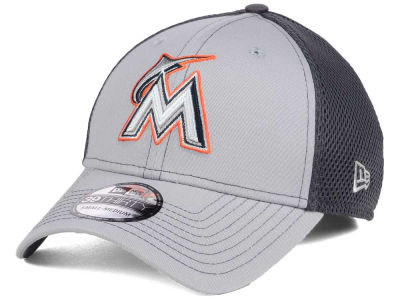 Miami Marlins New Era MLB Greyed Out Neo 39THIRTY Cap