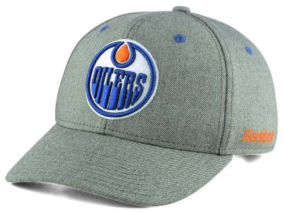 Edmonton Oilers Reebok NHL Structured Adjustable Cap