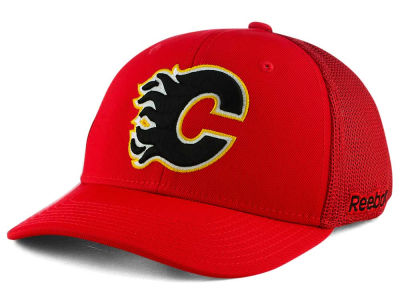 Calgary Flames Reebok NHL Structured Flex Cap