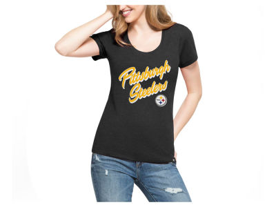 Pittsburgh Steelers '47 NFL Women's Club Script T-Shirt