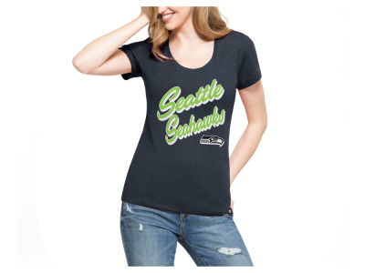Seattle Seahawks '47 NFL Women's Club Script T-Shirt