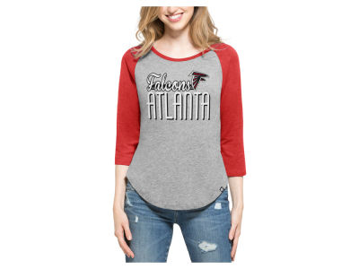 Atlanta Falcons '47 NFL Women's Club Block Raglan T-Shirt