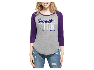 Baltimore Ravens '47 NFL Women's Club Block Raglan T-Shirt
