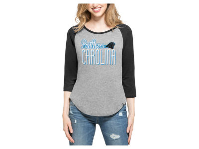 Carolina Panthers '47 NFL Women's Club Block Raglan T-Shirt