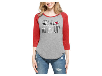 Kansas City Chiefs '47 NFL Women's Club Block Raglan T-Shirt