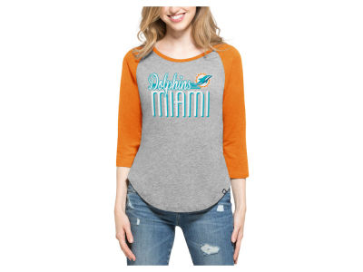 Miami Dolphins '47 NFL Women's Club Block Raglan T-Shirt