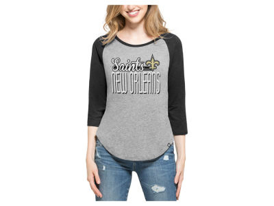 New Orleans Saints '47 NFL Women's Club Block Raglan T-Shirt