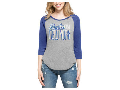 New York Giants '47 NFL Women's Club Block Raglan T-Shirt