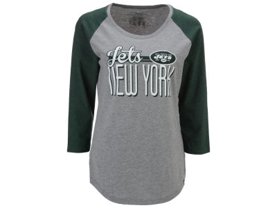 New York Jets '47 NFL Women's Club Block Raglan T-Shirt