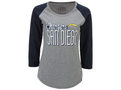 Los Angeles Chargers '47 NFL Women's Club Block Raglan T-Shirt