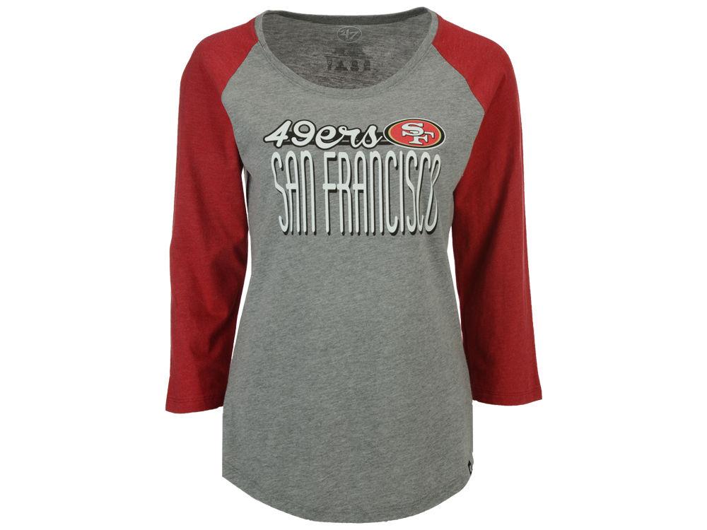 c2d8c97c San Francisco 49ers '47 NFL Women's Club Block Raglan T-Shirt